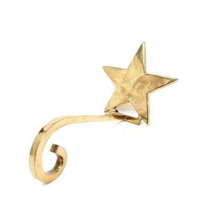 Vintage Solid Brass Star Long Arm Hook Stocking